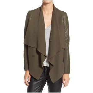 BlankNYC Olive All Or Nothing Faux Leather Jacket